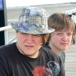 Stock Photo: Teen Brothers on Boardwalk 2