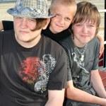 Three Brothers on Boardwalk 2 — Stock Photo #7667398