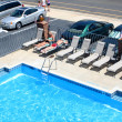 Royalty-Free Stock Photo: Motel Pool and Surroundings