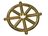 Buddhist Wheel Symbol (Dharmachakra) — Stock Photo