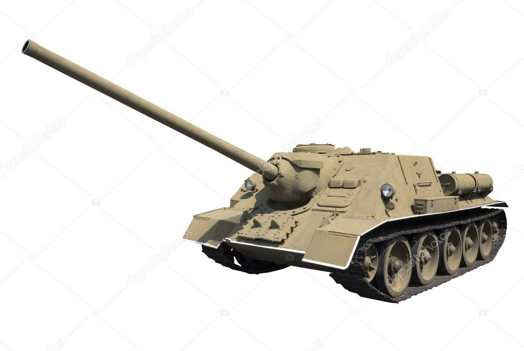 Self-propelled gun SU-100 (USSR, 1944) — Stock Photo #6844487