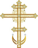 Ornate cross — Stock Vector