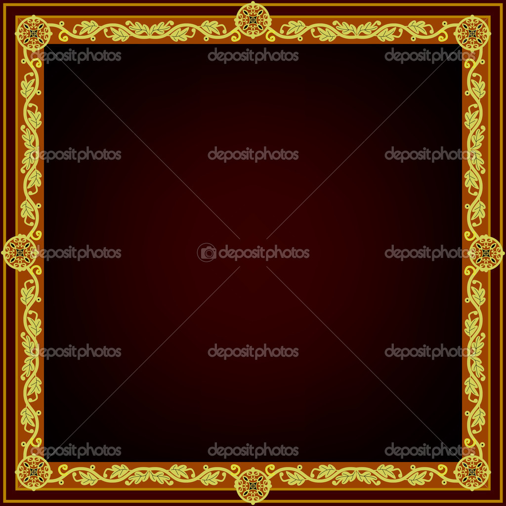 Square frame. Vector illustration — Stock Vector #6929404