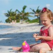 Baby girl on the beach — Stock Photo #6926371