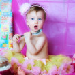 A cute birthday girl — Stock Photo