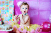 A cute birthday girl — Stock Photo
