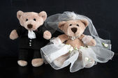 Wedding teddy bears — Stock Photo