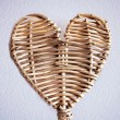 A wicker heart — Stock Photo