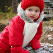 A cute baby girl in snowsuit — Stock Photo #7278624