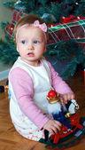Uma menina bonita no natal — Foto Stock
