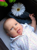 A cute funny baby — Stock Photo