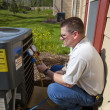 HVAC Tech Working — Stock Photo