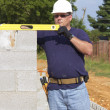 Mason with Concrete Block — Stock Photo #6747824