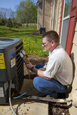 HVAC Tech Working — Stock Photo