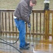 Pressure washing deck — Stock Photo #6754778