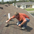 Stock Photo: Roofer Working
