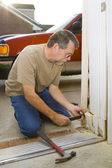 Carpenter repairs — Stock Photo