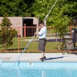 Active Pool Service Technician — Stock Photo