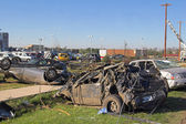 Car Dealrship Destroyed — Stock Photo