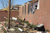 Tornado hits church — Stock Photo
