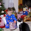 childs christmas — Stock Photo
