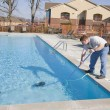 Stock Photo: Fall pool service