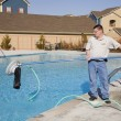 Fall pool service — Stock Photo