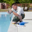 Stock Photo: Active Pool Chemical Testing