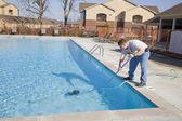 Fall pool service — Stock Photo