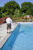Active Pool Service Technician — Stock Photo