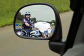 Police Motorcycle Cop — Stock Photo
