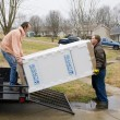 Appliance delivery — Stock Photo