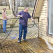 Pressure washing deck — Stock Photo #6925940