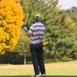 Fall Golfing - Stock Photo