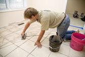 瓷砖安装程序 — 图库照片