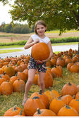 Kids and Pumpkins — Stock Photo