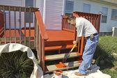 Painter Painting Deck — Stock Photo