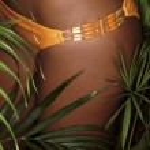 Photo of girl thighs in orange bikini — Stock Photo #6766895