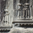 Khmer stone carvings angkor wat cambodia — Stock Photo