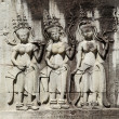 Khmer stone carvings angkor wat cambodia - Stock Photo