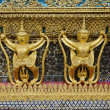 Grand palace temple detail bangkok thailand - Stock Photo