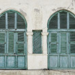 Windows in massawa eritrea ottoman influence - Stock Photo