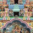 Hindu temple detail in singapore - Stock Photo