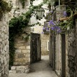 Budva old town street, montenegro — Stock Photo