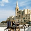 Horsedrawn cart in valetta malta — Stock Photo