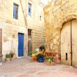 Stock Photo: Old residential areof valettmalta
