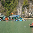 Stock Photo: Vietnamese segypsy village in halong bay