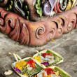 Stock Photo: Offerings in temple bali indonesia