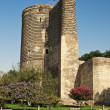 Maidens tower in baku azerbaijan — Stock Photo