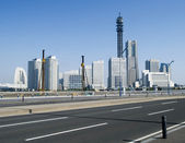 Yokohama skyline by day in japan — Stock Photo